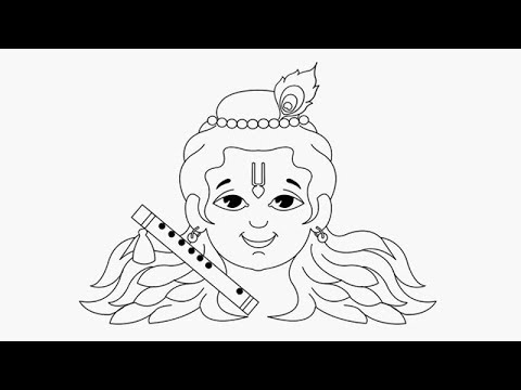How to Draw Lord Little krishna Drawing for Kids Step by step video