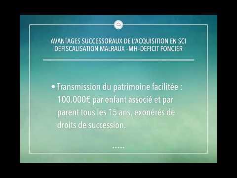 Avantages SCI IR Malraux MH Deficit Foncier