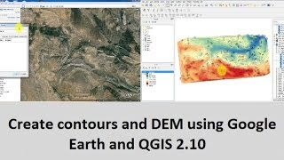 Create contours and DEM using Google Earth and QGIS 2.10