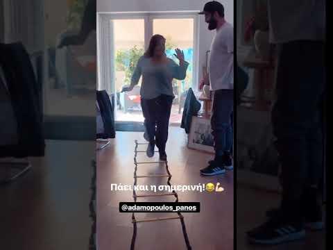 Η Βίκυ Σταυροπούλου ξεκίνησε γυμναστική με personal trainer τον γαμπρό της