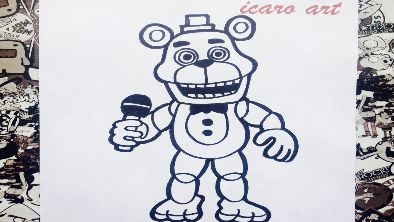 Como Dibujar A Freddy Adventure De Fnaf World How To