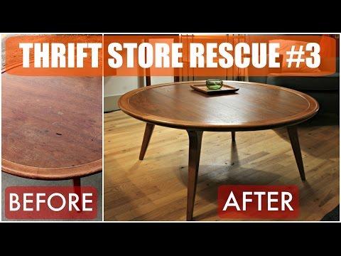 Thrift Store Rescue #3 / Mid Century Furniture Refinish & Reglue