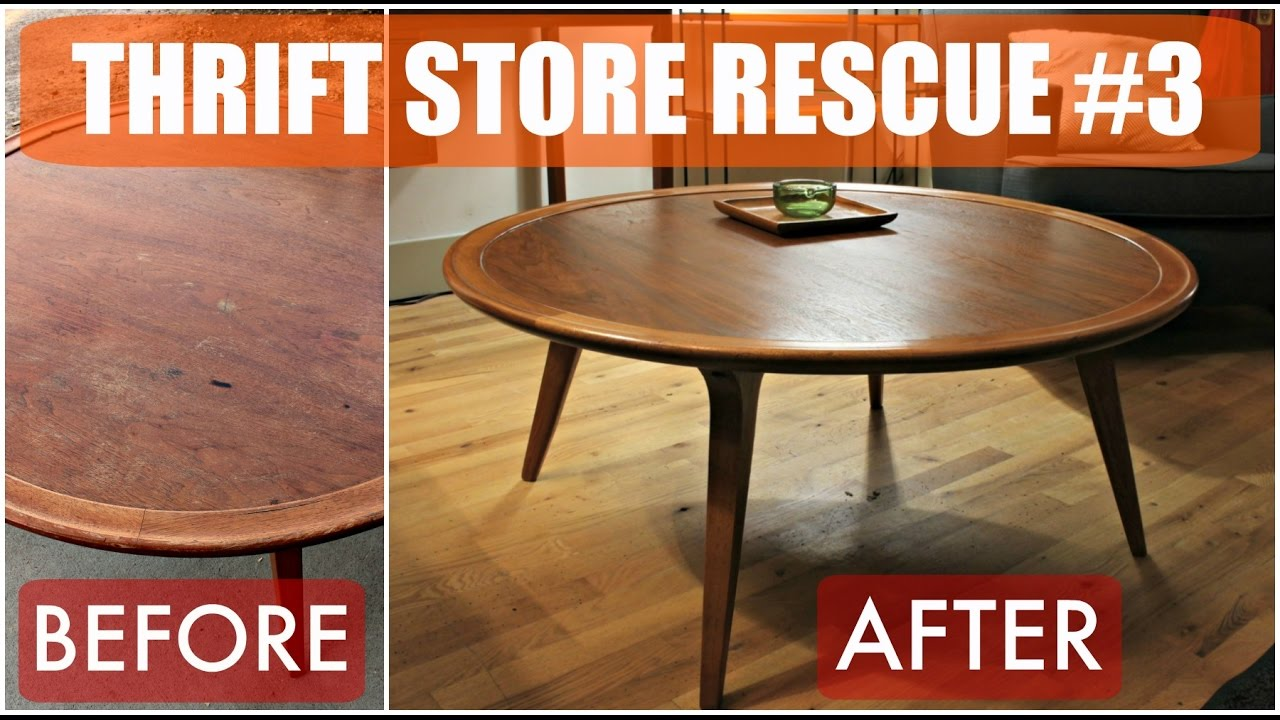 Thrift Store Rescue #3 / Mid Century Furniture Refinish U0026 Reglue