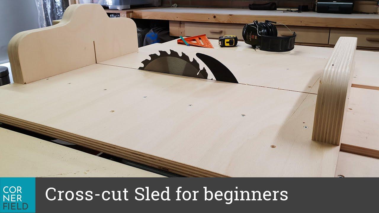 Making A Cross Cut Sled For Table Saw Dewalt Dwe7491 Youtube
