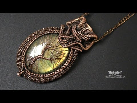 Видео шутка. Video is a joke. Кулон из проволоки. How to quickly make a pendant made of wire.