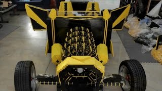 Car Made Entirely Out Of Legos