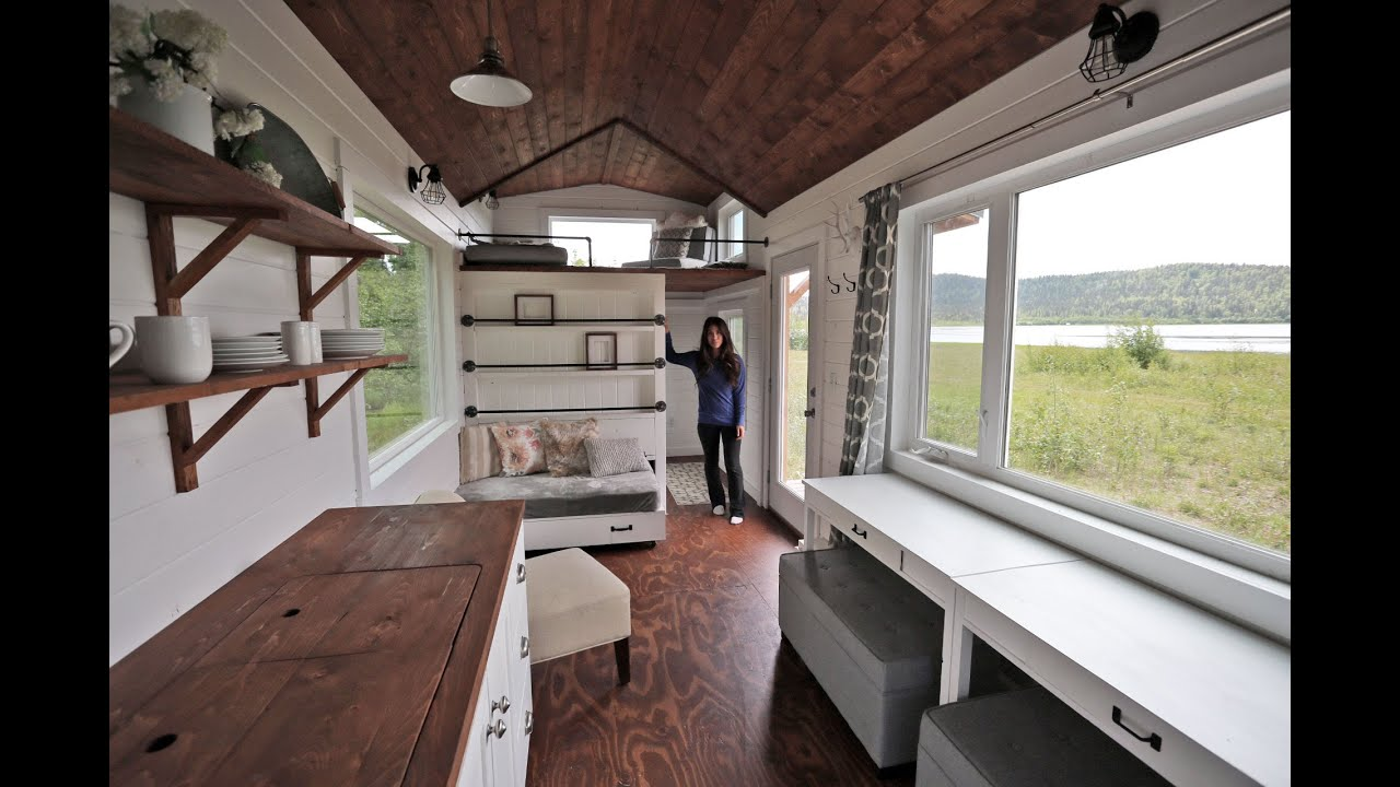Beautiful 24 Foot Tiny House Tour With Free Plans: Ana White Tiny House  Build [Episode 18]   YouTube