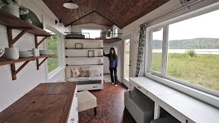 Beautiful 24 Foot Tiny House Tour With Free Plans: Ana White Tiny House Build Episode 18