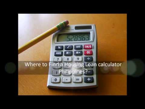 Where to Find a Housing Loan calculator Philippines?