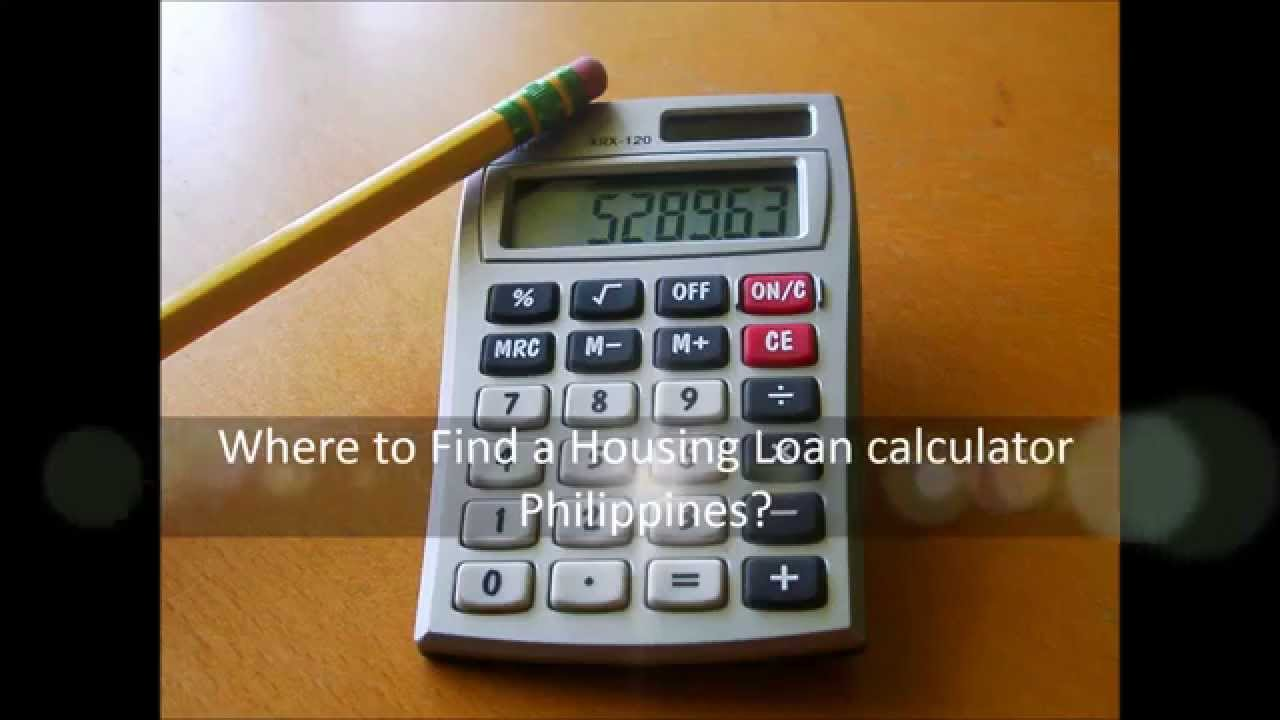 where to find a housing loan calculator philippines youtube