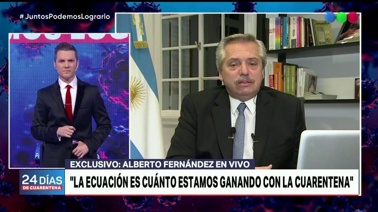 """Alberto Fernández: """"No sabemos cuál es la dimensión de la pandemia ..."""