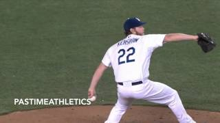 clayton kershaw slow motion pitching mechanics how to baseball drills mlb mvp