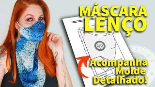 Mascara de Proteção com Lenço e Molde – Elegante e Sucesso em Vendas