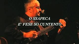 Pino Daniele - Chi tene o mare - Karaoke Medina con J. Senes live 1981