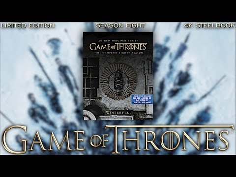 GAME OF THRONES: SEASON 8 - LIMITED EDITION - 4K STEELBOOK - UNBOXING BLURAY DAN
