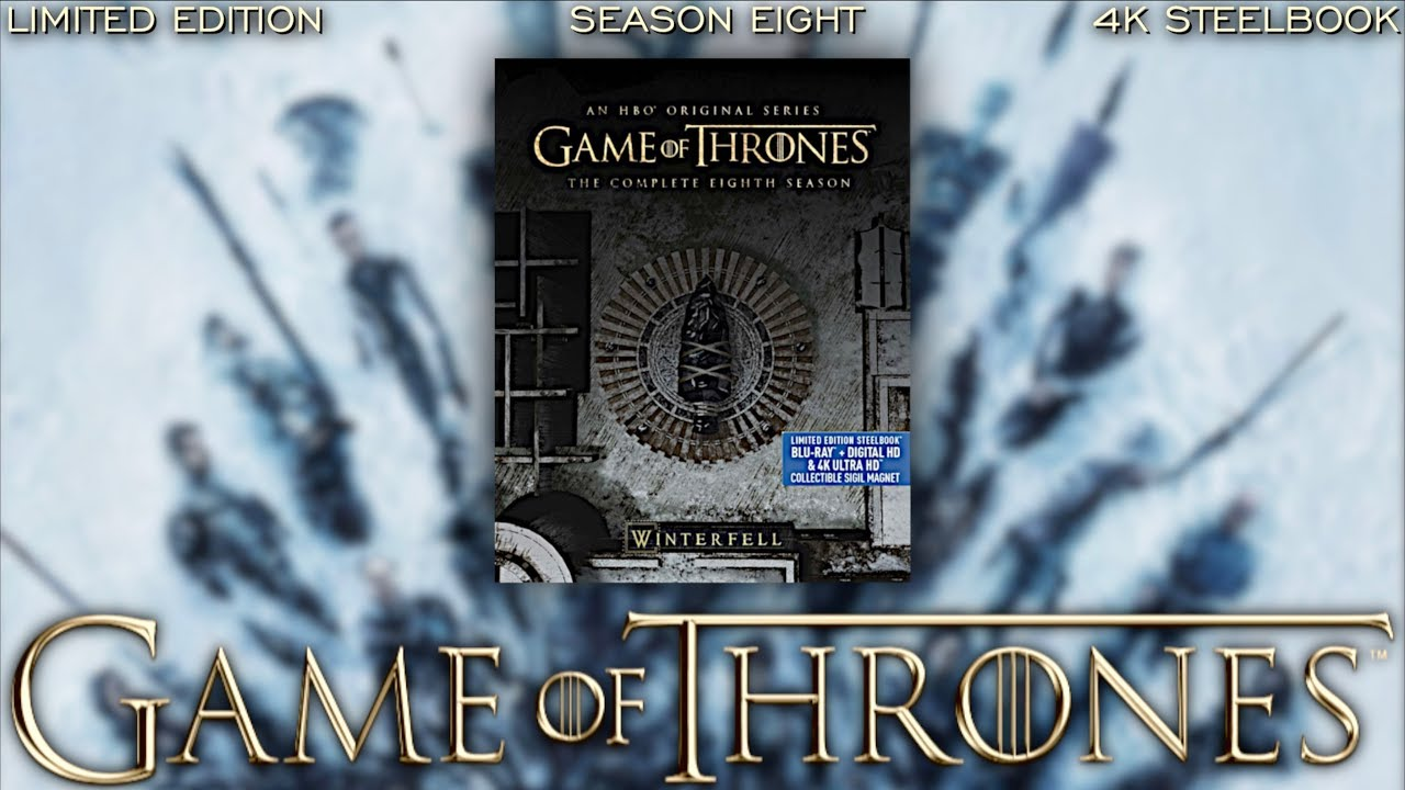 Game Of Thrones Season 8 Limited Edition 4k Steelbook Unboxing Bluray Dan Youtube