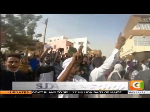 Anti-Bashir protests continue in Khartoum, Sudan.