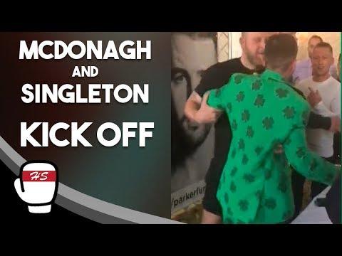 McDonagh And Singleton Clash After Undercard Press Conference | Joseph Parker v Hughie Fury