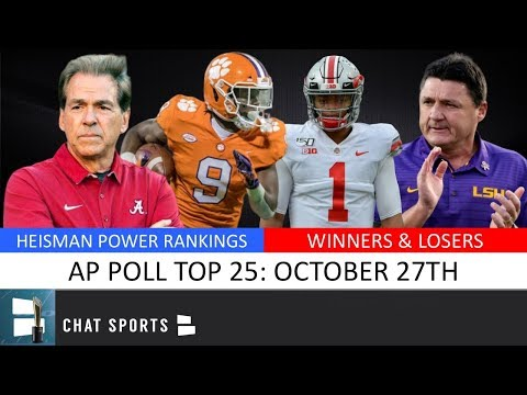 AP Poll: College Football Top 25 Rankings For Week 9, New #1 Team + Winners & Losers