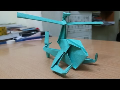 Origami - How To Make A Paper Helicopter