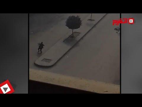اتفرج | إطلاق الرصاص على إرهابي كنيسة «مارمينا» بحلوان