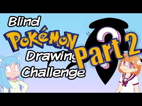 Drawing Pokemon Blind Challenge Feat. Saki McGee PART 2