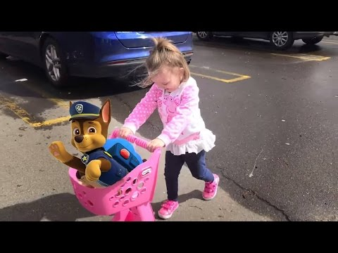 Thumbnail: Cute Little Girl Toys R Us Shopping With Paw Patrol Chase | Mia Had a Little Dog Nursery Rhyme