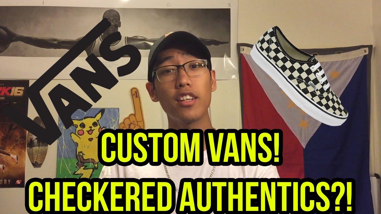 vans era checkerboard custom