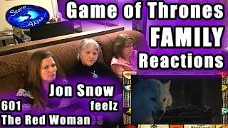 Game of Thrones FAMILY Reactions 601 | Jon Snow Feelz