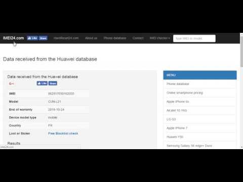 IMEI24 com Huawei warranty free IMEI check