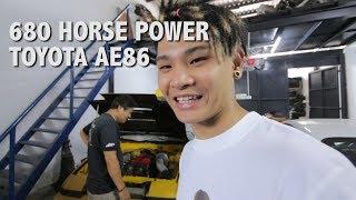 680HP TOYOTA AE86!