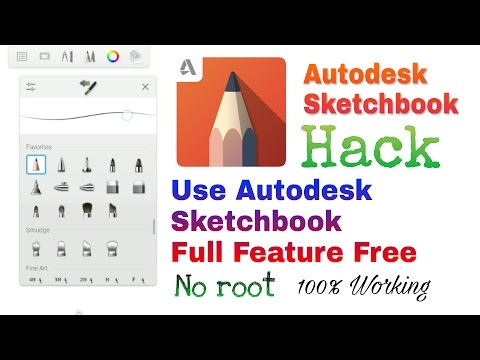 Autodesk Sketchbook Hack Without Root 100% Working | How to buy Sketchbook pro Tools in Free [Hindi]