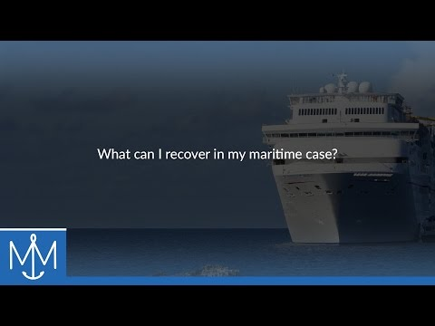 What can I recover in my maritime case?