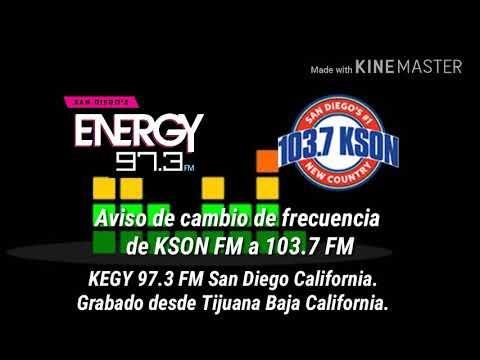 Transición DE KSON San Diego al 103.7 (97.3 FM)