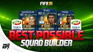 FIFA 15 | BEST POSSIBLE SERIE A SQUAD BUILDER w/ TOTS TEVEZ and TOTS POGBA