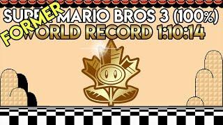 Super Mario Bros. 3 100% World Record Speedrun 1:10:14