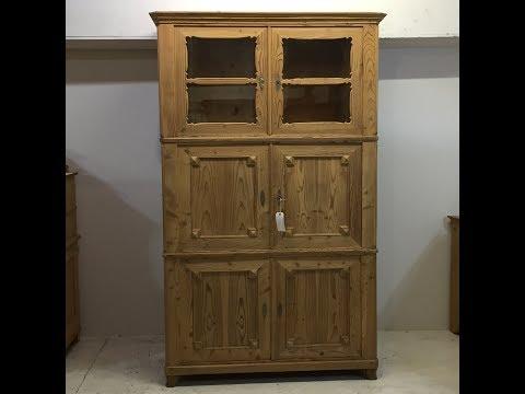 Stunning 19th Century Fire Cupboard / Storage Cupboard - Pinefinders Old Pine Furniture Warehouse