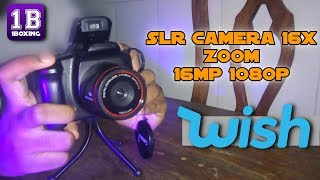 WISH: SLR Camera 16x Zoom -16mp 1080p || UMBOXING [PT-BR]