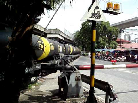 SRT - Freight train (crude oil) Makkasan railway station. Bangkok