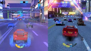 Cars 2 vs Cars 3 Comparison - Vista Run - Go Go Tokyo! - Gameplay HD