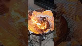 알고리즘 선택받는 치트키 불 불멍 고기 캠핑 화로 숯 …
