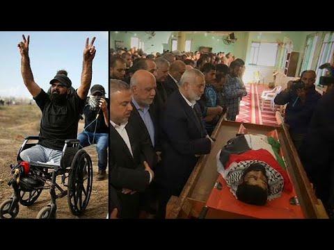آلاف الفلسطينيين يودعون جثمان ثائر غزة -إبراهيم أبو ثريا-  - نشر قبل 3 ساعة