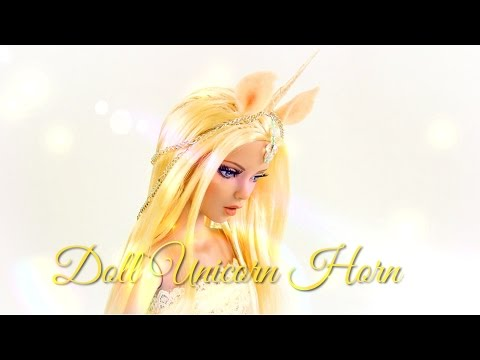 DIY - How to Make: Doll Costume: Unicorn Horn - FAIRY TALE - Handmade - Doll - Crafts