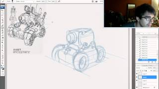 The KNKL Show Episode #42: How to draw mechanical objects in perspective!