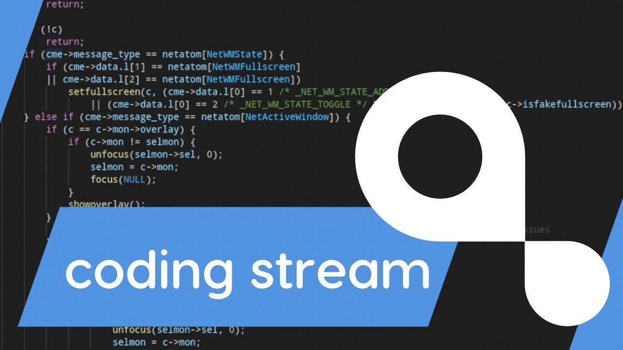 coding stream #6 - I'm back!
