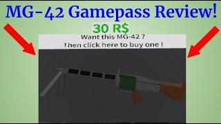 MG42 Gamepass Examen! Roblox survivre et tuer les tueurs dans la zone 51!
