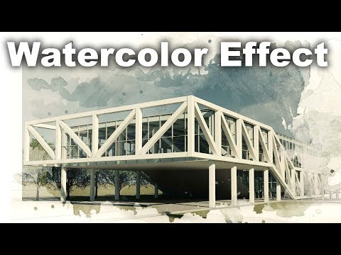 Watercolor Effect Render Postproduciton in PhotoShop