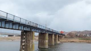 2020.12.01 JR五能線 鯵ヶ沢~陸奥赤石間 赤石橋梁 普通2826D ♪