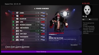 WWE 2k18 Universe mode Power Rankings for the week of 9\9\18