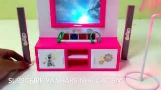 Tivi giúp trang tri cho ngôi nhà búp bê barbie thêm đẹp.VLOG 22